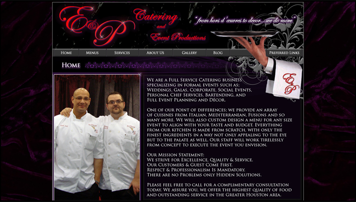 E & P Catering Dot Com - M-T Productions